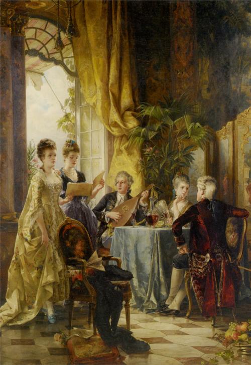 Carl-Herpfer-(1836-1897)-A-Musical-Evening